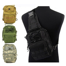 600D Molle Tactical Utility 3 Ways Shoulder Sling Pouch Backpack Chest Bag 5 Colors Climbing Bags