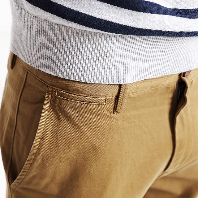 Simwood Brand Spring Winter New Fashion 2020 Slim Straight Men Casual Pants 100% Pure Cotton Man Trousers Plus Size  KX6033 4