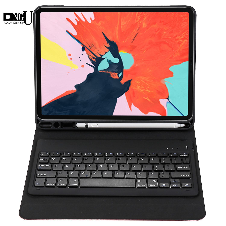 Clavier sans fil étui pour ipad Pro 11 pouces A1979 Magnétique Étui Clavier Bluetooth Cas porte-crayons Intelligent Coque