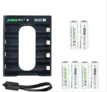 6 pcs AA 1.5 v lifepo4 14500 Li-polymère Batterie JUGEE au lithium li-ion 2400mwh AA rechargeable batteries + aa jugee batterry chargeur