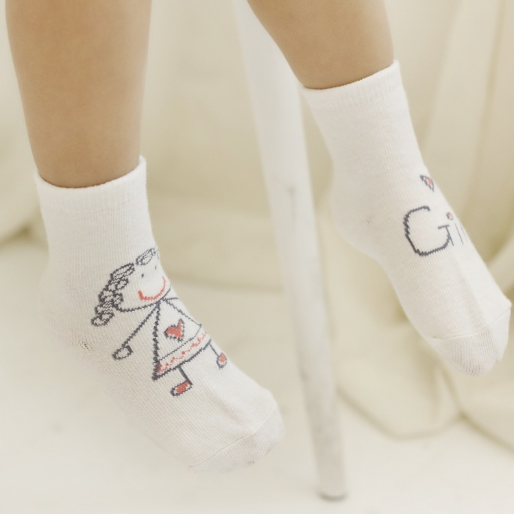 Baby Socks Fashion Children Sock 1Pair Girl Boy Baby Infant Kids Foot Sock Soft Non-slip Boot Cuff Slippers Socks TZ59