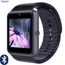 Espanson G08 Bluetooth esporte relógio Inteligente Com SIM Card TF Camera SmartWatch para Apple iPhone Samsung Huawei LG ISO Android telefone