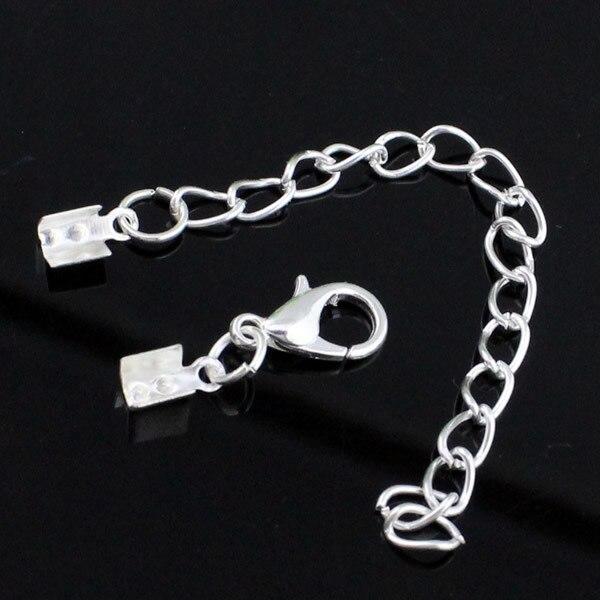50sets/lot Fashion Iron Cord End Caps Fit 2mm Cord Clips for Necklace Bracelet Connectors Clasp,DIY Accessories (K02862)