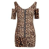 Women S Dress Sexy Fashion Party Dress Mini Dress Top Slim Leopard S