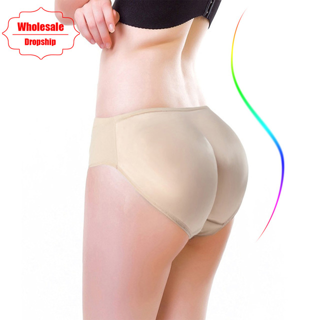Ningmi Hot Shaper Boyshort Push Up Control Panties Women Big Ass Underwear Fake Butt Pad Waist