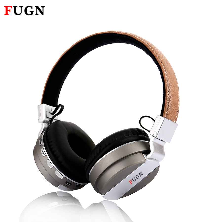 FUGN Wireless Bluetooth Headphones with Mic Bass Sound Metal Bluetooth Headset 3d Gaming Stereo Earphone for Phone Computer TV