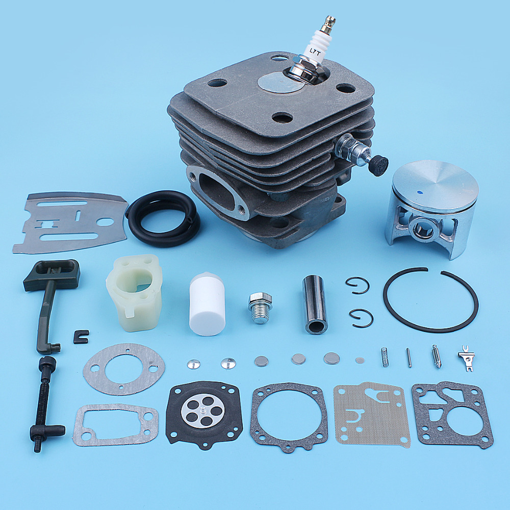 54mm Cylinder Piston Pin Intake Carb Kit For Husqvarna 288XP 288 281 181 Chainsaw Top End Decompression Valve Replacement Part54mm Cylinder Piston Pin Intake Carb Kit For Husqvarna 288XP 288 281 181 Chainsaw Top End Decompression Valve Replacement Part
