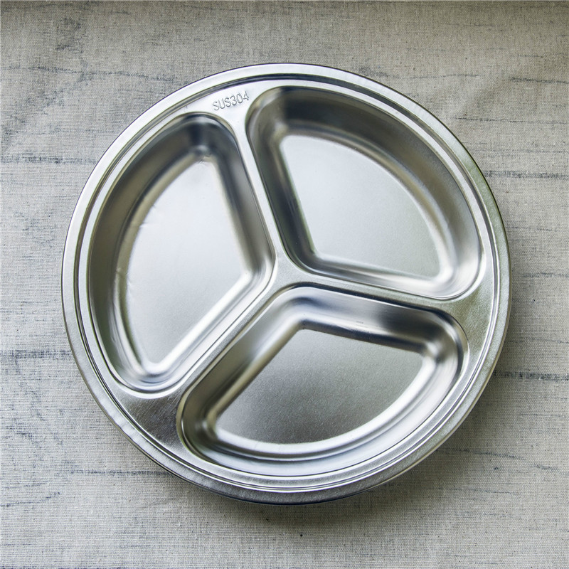 3/4/5/6 Sections Stainless Steel Divided Dinner Plate Dish Round Students Lunch Tray Plate Tableware Canteen Supplies-in Dishes \u0026 Plates from Home \u0026 Garden ... & 3/4/5/6 Sections Stainless Steel Divided Dinner Plate Dish Round ...