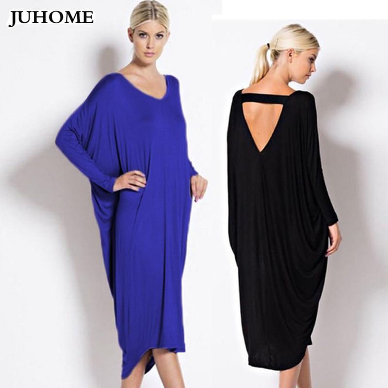 5xl 6xl plus size dresses women loose blue black large size dress 2018 long  sleeve autumn 8ebed7c5fdea