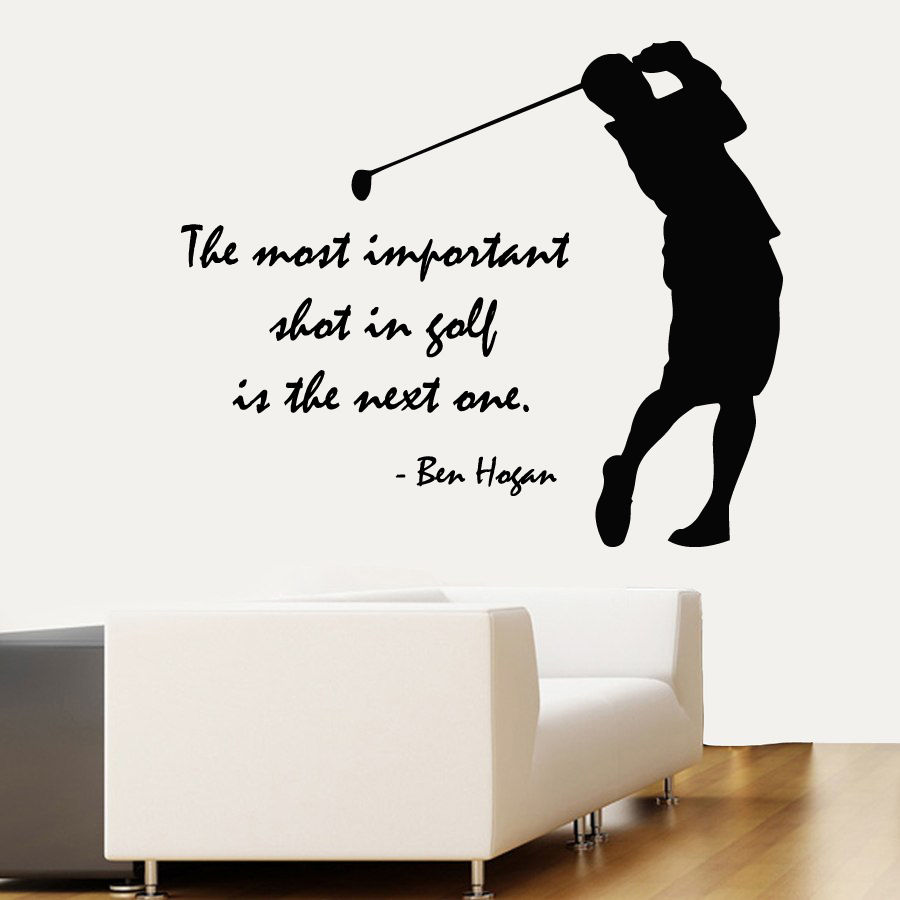 Golfer Wall Decals Quote Golf Player Vinyl Decal Sticker Home Interior Sport Decor Sports Room Wall Stickers Hot Art Mural LA940