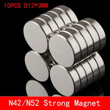 10PCS 12mm x 3mm Super Strong Round Disc Magnets 12*3 12x3 Rare Earth Neodymium Magnet N42 N52 12mm*3mm