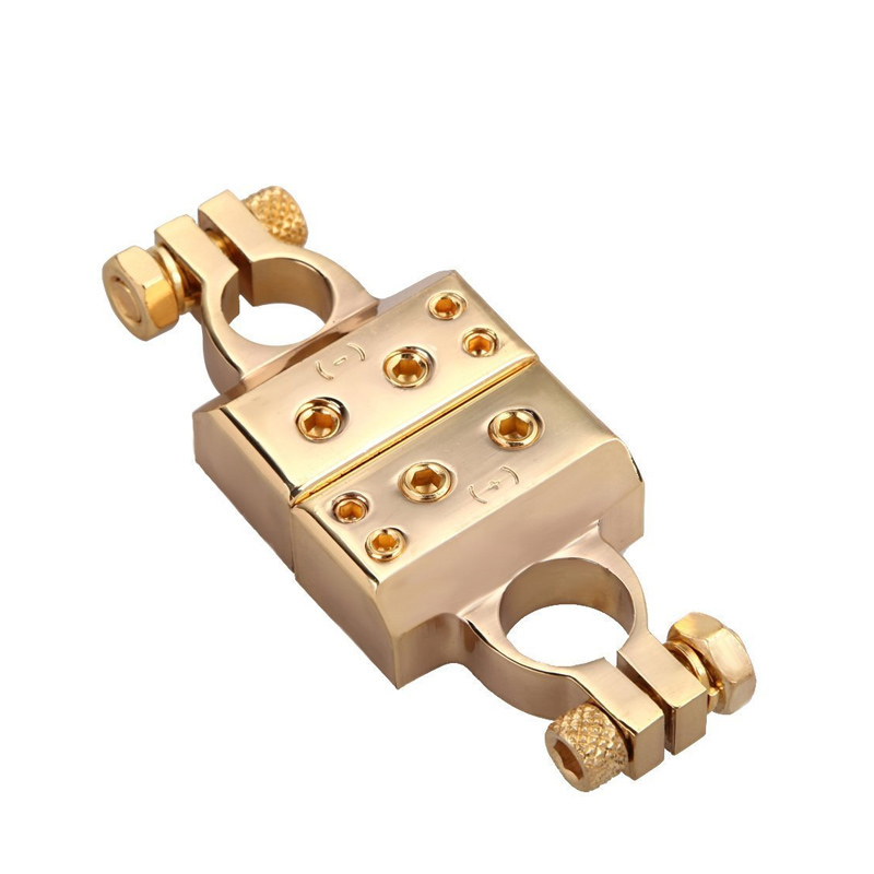 Image 2 - LUNDA Gold plated Car Battery Terminal Positive /negative  Car battery Connector Battery Caps Terminal Connector-in Car Batteries from Automobiles & Motorcycles