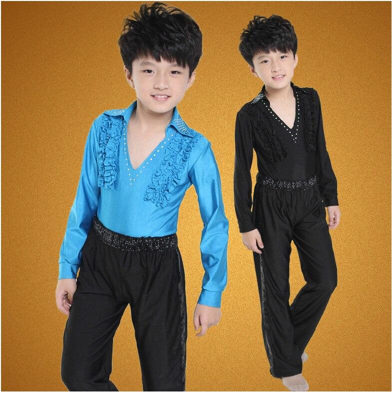 5086ce3c3dfdb2 Gratis bezorging jongen prestaties latin dans kleding kinderen jongen latin  dance shirt dansen kostuums jongens latin dancing in Gratis bezorging jongen  ...