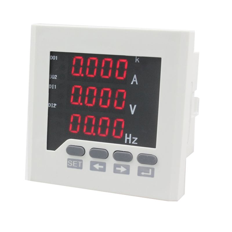 UIF73 frame size 80*80 low price single-phase ac led voltage current measure digital combined meter, for distribution box