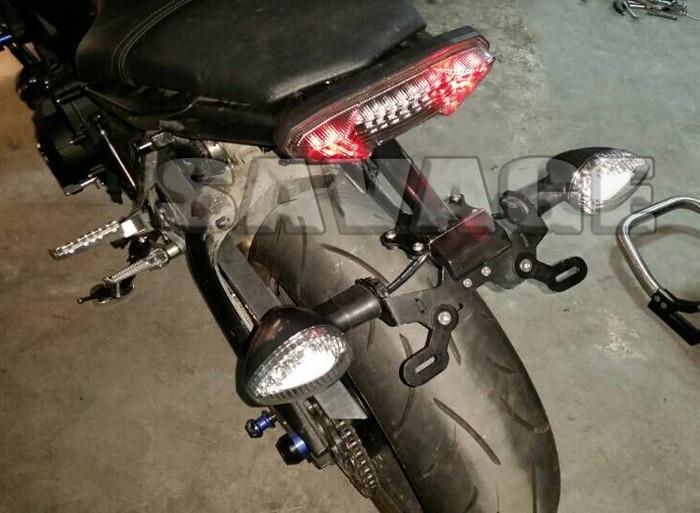 Cnc motorcycle license number plate holder mount bracket for Yamaha warranty registration