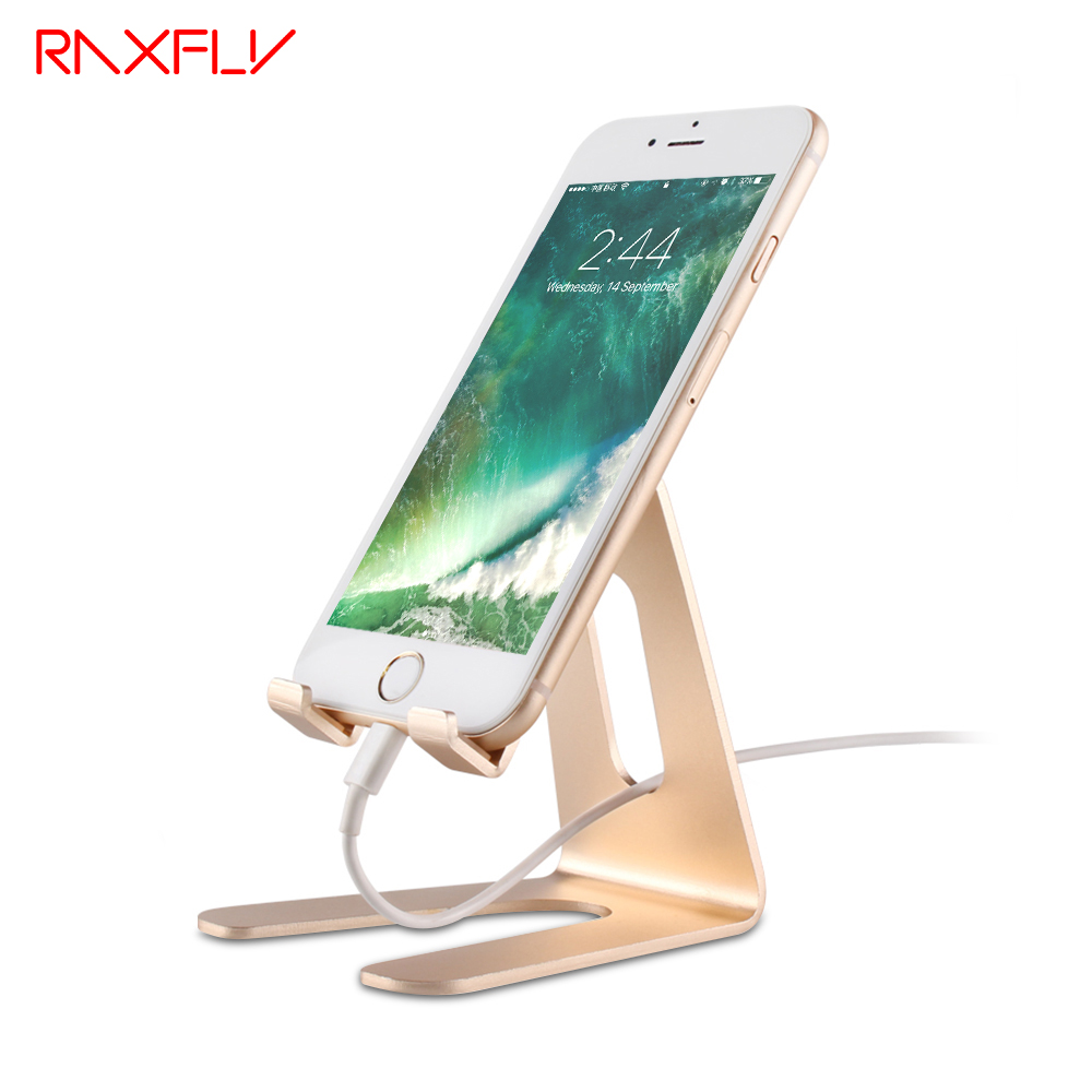 RAXFLY Universal Phone Tablet Desk Holder Stand For iPhone X 8 6 6S 6 Plus 5S 5 For Samsung S8 S7 S6 Edge Huawei For iPad 2 3 4