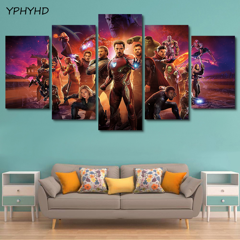 Yphyhd 5 Pieces Movie Poster Avengers Infinity War