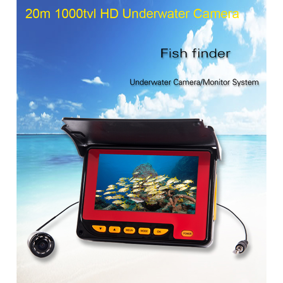 7/'/' TFT Monitor Unterwasserfischen Videokamera Fishfinder CCD 1000TVL EU Stecker