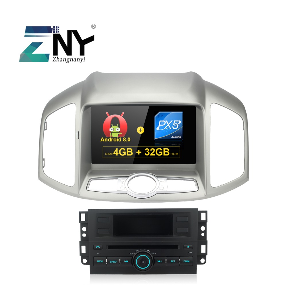 "4GB 8"" IPS Android 9.0 Car DVD For Captiva 2012 2013 2014 2015 In Dash Auto Radio GPS Navigation Audio Video Free Backup Camera"