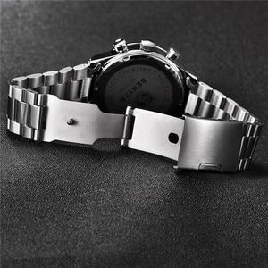 Image 4 - Часы хронограф мужские спортивные из нержавеющей стали, 5107