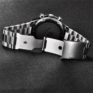 Image 4 - Benyar Mannen Horloges Top Merk Luxe Chronograph Sport Mannelijke Klok Rvs Militaire Leger Horloge Relogio Masculino 5107