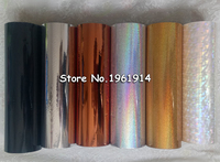 1 roll Hot Stamping Foil Paper Roll Holographic foil transparent foil plastic 21cm x120m golden silver bronze black