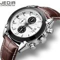 JEDIR Men fashion leather sports quartz watch for man military chronograph wrist watches men army style 2020 Relogios Masculino