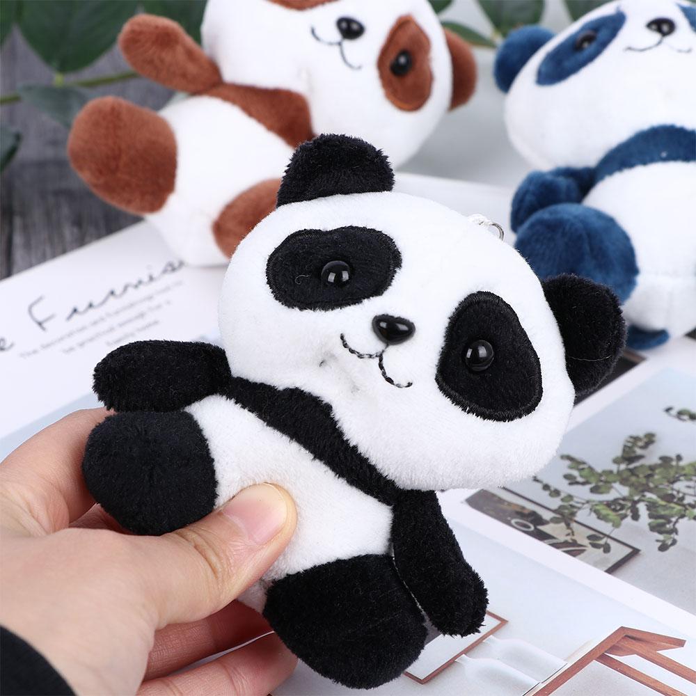 Panda bear Personalized Engraved Keychain Zoo Animal bamboo Chinese bear Panda Leather Custom luggage Keyring Tag Panda Key Chain Ring Fob