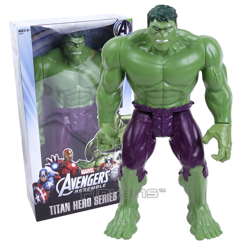 Titan Hero Series  Avengers Assemble Hulk PVC Action Figure Collectible Model Toy 12 30cm avengers movie hulk pvc action figures collectible toy 1230cm retail box