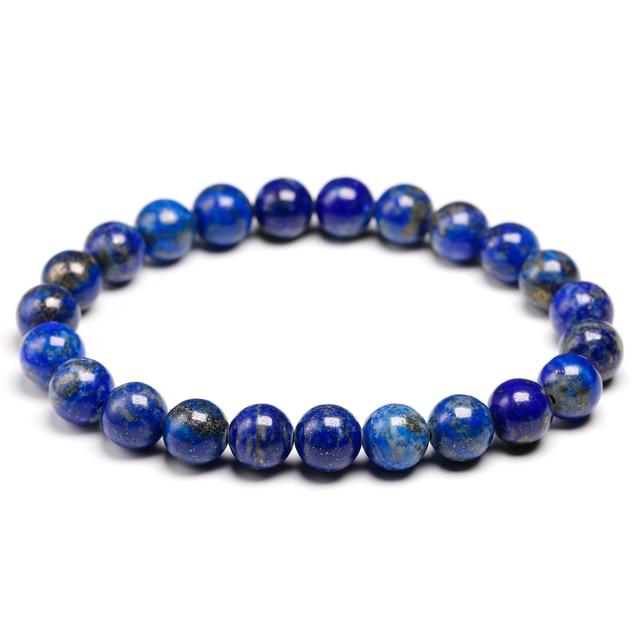 Bracelet Pierres Porte-Bonheur Lapis Lazuli 8mm