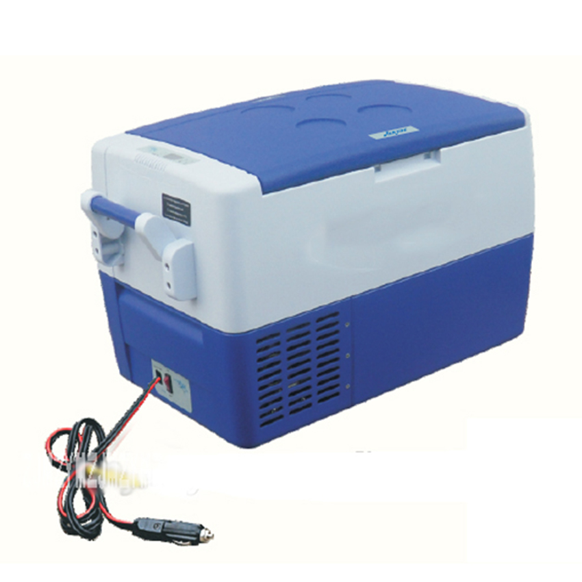 Beverage Portable DC 12V/24V 30L Mute Design Mini Auto Fridge Truck Home Freezer Travel Car Refrigerator Cooling To -18 Degree