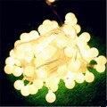10 M Ano Novo Guirlandas Decoração Christams Cutton Bola LED String Luzes Ao Ar Livre Luzes Cristmas LEVOU Luces Navidad