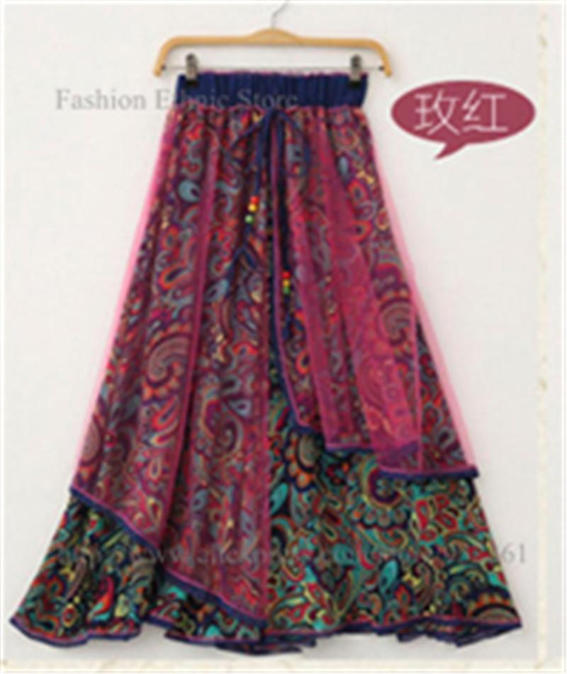 Aliexpress.com : Buy Retro Bohemian Ethnic Colourful Printed Long ...