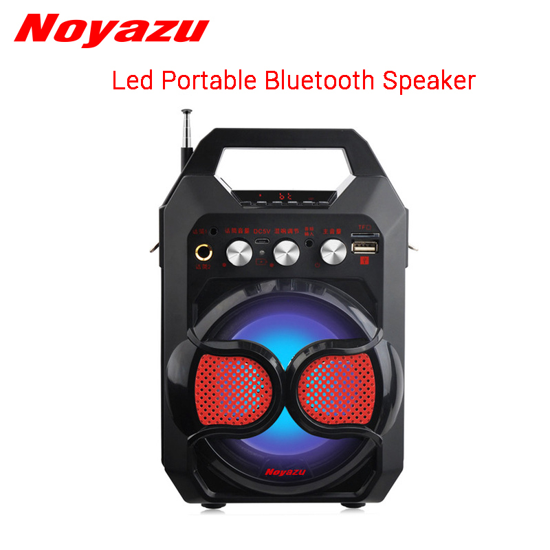 Noyazu Portable Wireless Bluetooth Speaker Mini Loudspeaker Flashing Lights LED Speaker FM Recorder Support TF Card USB Play
