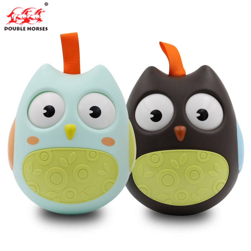 The baby bed childrens Q high-quality durable tumbler owl adorable baby toys novelty puzzle birthday gift childrens toy