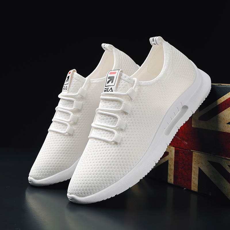 Black White Sneakers Shoes Men Casual Shoes Mixed Colors Stretch Man 39 s Footwear Breathable Light Mesh Krasovki Tenis in Men 39 s Casual Shoes from Shoes