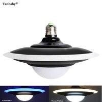 Tanbaby E27 18 W Forma UFO HA CONDOTTO LA Luce AC 220 V Bianco Lampada A Risparmio Energetico LED doppio colore Bianco caldo Illuminazione Domestica 1 PZ/2 PZ