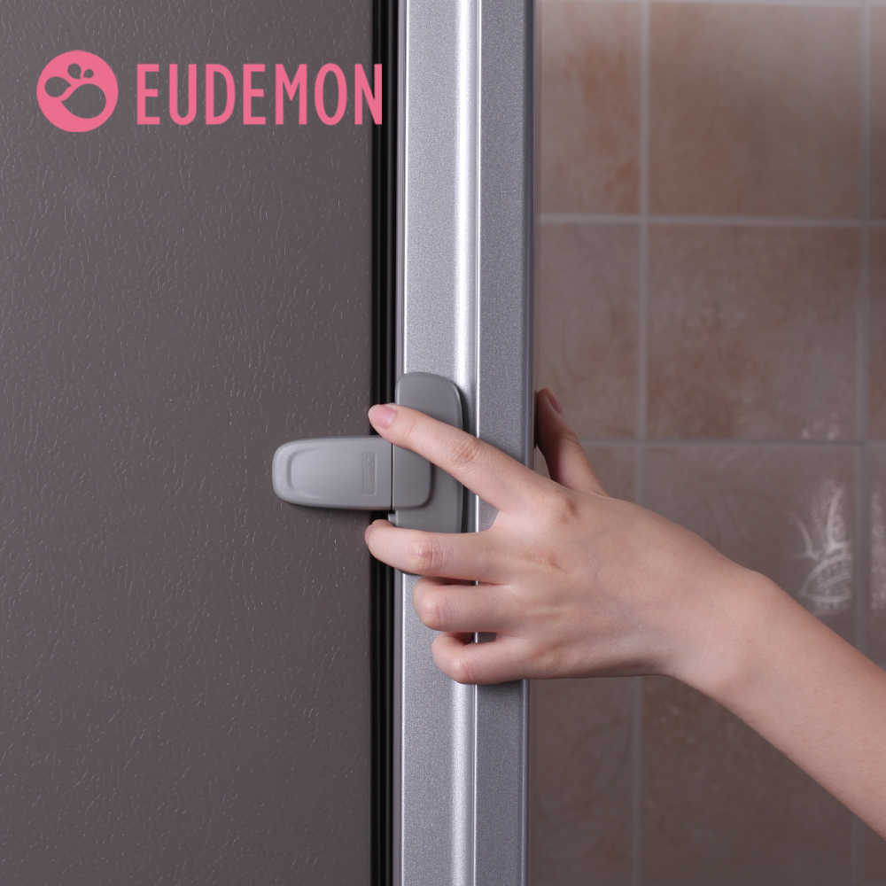 EUDEMON 1Pcs Home Refrigerator Fridge Freezer Door Lock Latch Catch Toddler Kids Child Cabinet Locks Baby Safety Child Lock