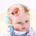 1 PC Acessórios de Cabeça Menina hairband Do Bebê Da Princesa Rainha Tiara de Strass Cabelo Banda Headband Crianças Flor Elástica Coroa Headwear