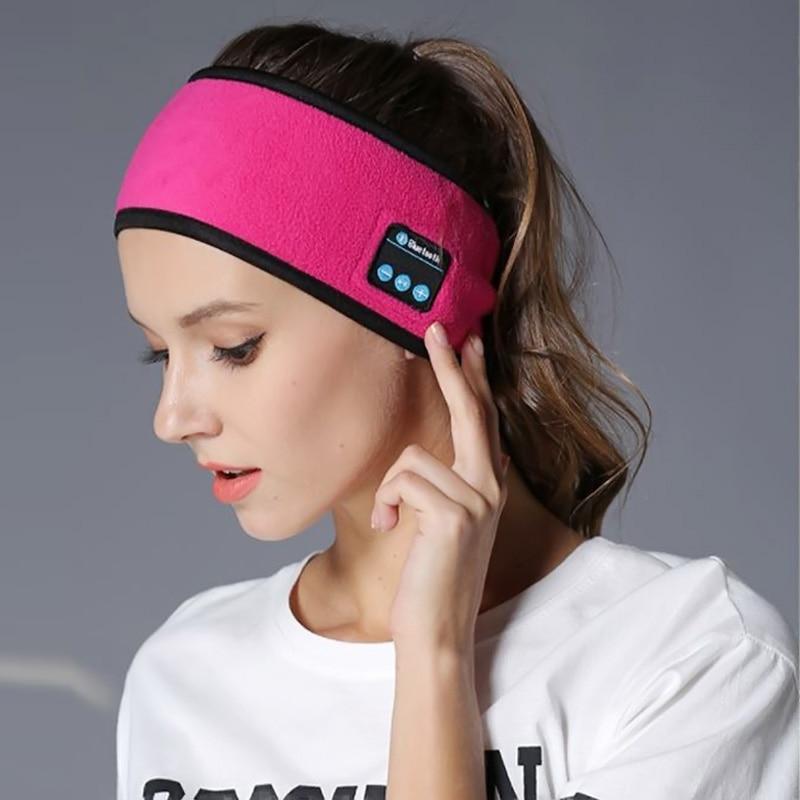 BGreen Sports Yoga Sweatband Headband Bluetooth Headphone Wireless Dancing Jogging Sport Scarf Headset Exercise Music Hat