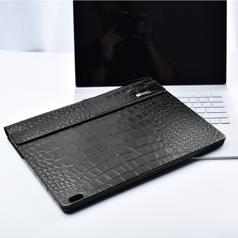 iCarer Genuine Leather Case for Microsoft Surface Book 2 13.5 2018 Detachable Protective Cover Laptop Sleeve Case for Book 2 for microsoft surface book 13 5 sleeve bag embossed crocodile genuine leather detachable flip case black skin for surface book