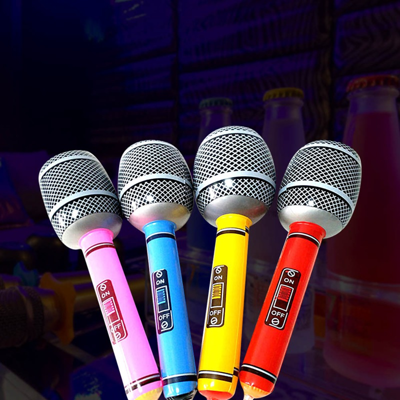 Children Gift Stage Prop Microphone Disco Toy Color Random Party Supplies Inflatable Microphone