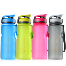 LC 600ml plastic sports water bottle with handle rope bpa free 4 color