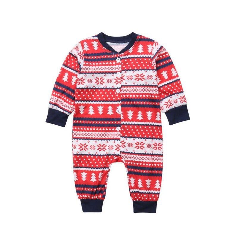 Famille correspondant noël à manches longues pyjamas ensembles femmes hommes bébé enfants famille noël arbres imprimé vêtements ensembles - 2