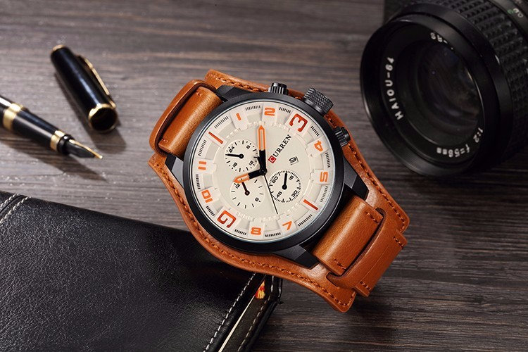Curren 8225 Army Military Quartz Mens Watches Top Brand Luxury Leather Men Watch Casual Sport Male Clock Watch Relogio Masculino 23