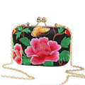 European and American Style Floral Handbag Chain Shoulder Bag Embroidery Ethnic Bags Spain Style Women Evening Clutch Bags