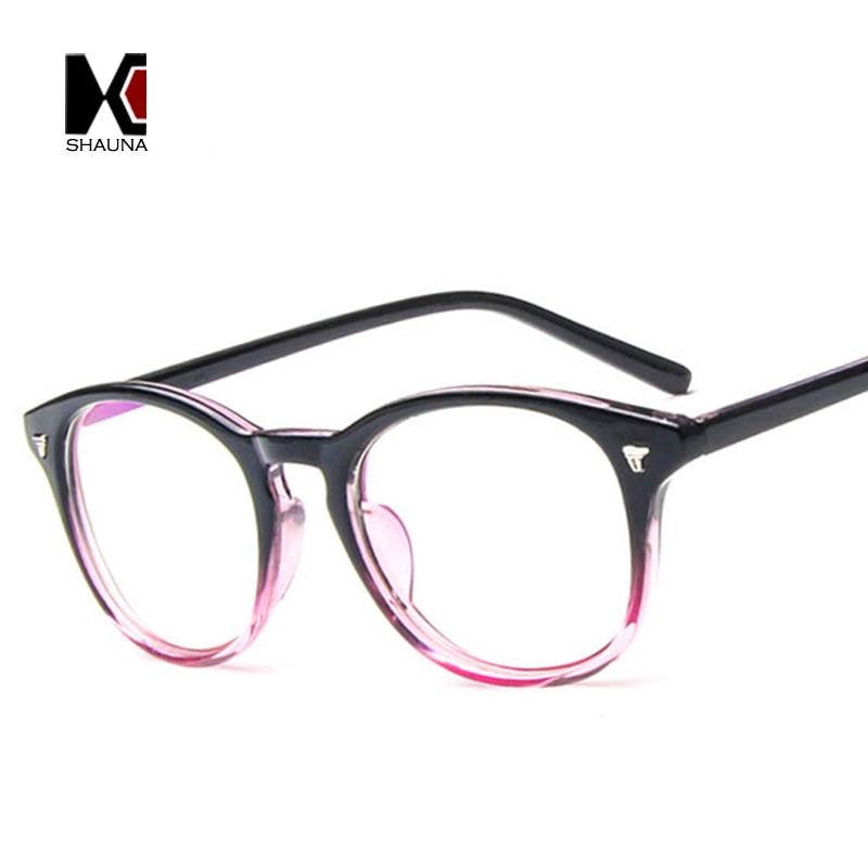 Reading Glasses Frame Names : SHAUNA Classic Women Round Eyeglasses Frame Brand Designer ...