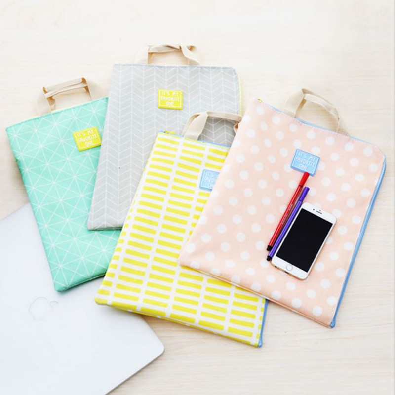Coloffice 1PC Love Simple Life Multifunctional File Bag Paper Student Zipper Bag Examination Data File Folder Stationery Office