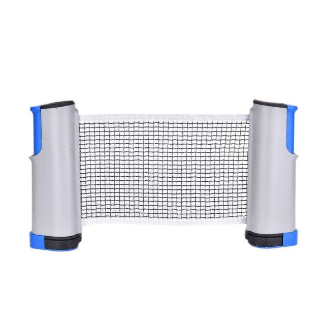 Retractable Table Tennis Table Plastic+Strong Mesh Net Portable Net Kit Net  Rack Replace Kit