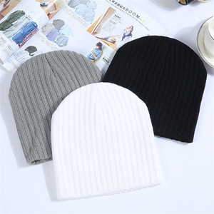 Winter Hats For Women Beanie Cap Solid Warm Hats Knitted Skullies Beanies Man Thick Warm Caps Black Gray White Colors(China)